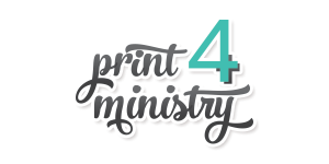 Logo print4ministry Graphic Design and Printing